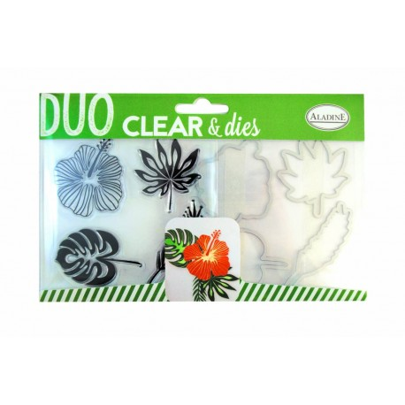 Timbri e Fustelle Duo Clear & Dies - Aladine - Tropical