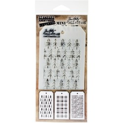 Mini Stencil Tim Holtz - Set 32