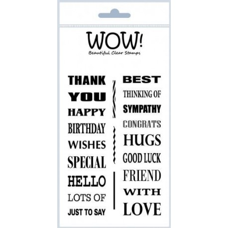 Timbri clear - WOW!  BIG WORDS