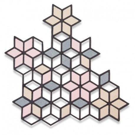 Fustella Sizzix Thinlits -  Diamond Cluster