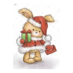 Timbro Clear Wild Rose - Christmas Bunny