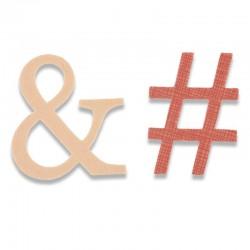 Fustella Sizzix Bigz - Ampersand & Hashtag