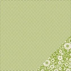 Cartoncino american craft - Leaf chevron