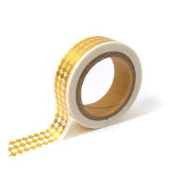 Washi Tape - Toga - Blanc & Losanges Or
