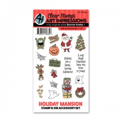 Art Impression - Clear Stamps & Die Holiday Mansion
