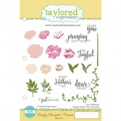 Timbri Cling Taylored Expressions - Simply Stamped - Peonies