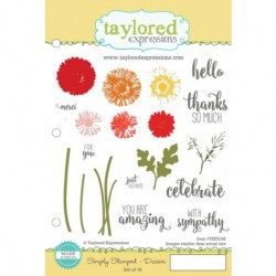 Timbri Cling Taylored Expressions - Simply Stamped - Daisies