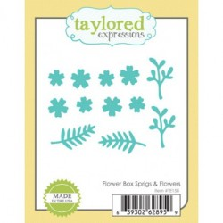 Fustelle Taylored Expressions - Flower Box Sprigs & Flowers