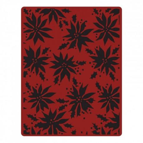 Embossing Folder Tim Holtz - Poinsettias