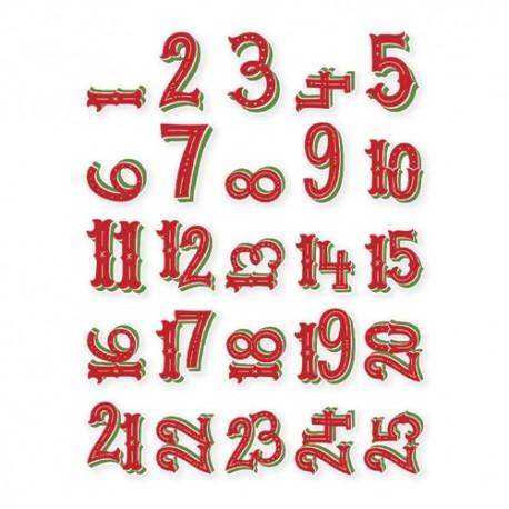 Numeri Per Calendario Avvento.Abbellimenti In Carta Simple Stories Numeri Per Calendario Avvento