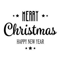 Timbro legno Impronte D'Autore - Merry Christmas