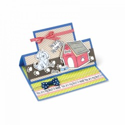 Fustella e timbro Sizzix Framelits w/Stamps - Doggone Cute