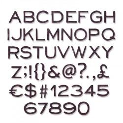 Fustella Sizzix Framelits T. Holtz - Alphanumeric, Thin (3/8 in tall)