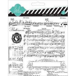 Timbri Clear Heidi Swapp - Music Notes