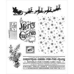 Timbro Cling Tim Holtz - Christmas nostalgia