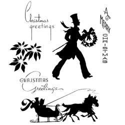 Timbro Cling Tim Holtz - Deco Christmas