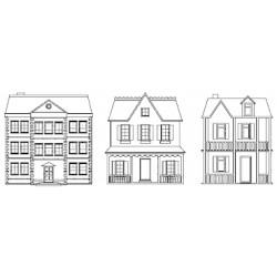 Timbro Legno Aladine - Tre case