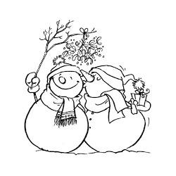 Timbro Legno Artemio - Bacio omini di neve