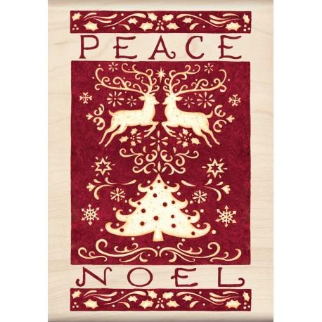 Timbro legno Inkadinkado - Peace, Noel