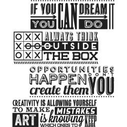 Timbro Cling Tim Holtz - Motivation 1