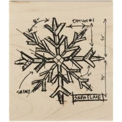 Timbro legno Tim Holtz Collection - Snowflake Sketch