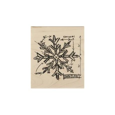 Timbro legno Stempel Art - Nove Cuori