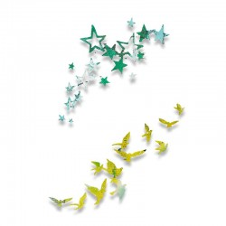 Fustella Sizzix Thinlits - Birds and Stars