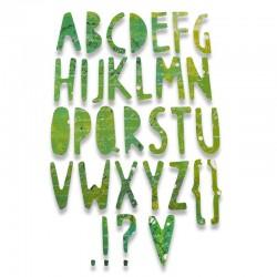 Fustella Sizzix Thinlits - Paper Cuts Alphabet
