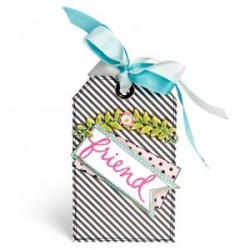 Fustella Sizzix Thinlits - Floral arch & words by Eileen Hull