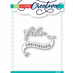 Fustella La Coppia Creativa - Felice anniversario