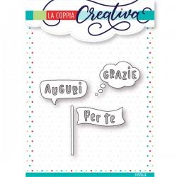 Fustella La Coppia Creativa - Bolle e banner