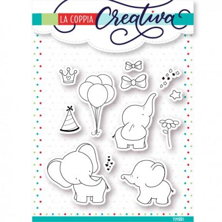 Timbri La Coppia Creativa - Elefanti