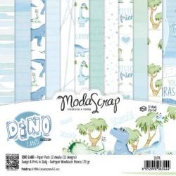 Pad Carte 15x15cm ModaScrap - DINO LAND