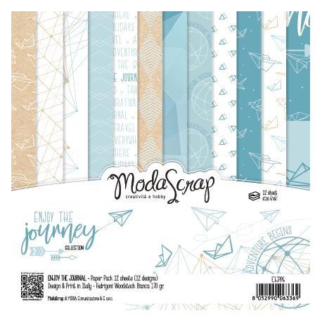 Pad Carte 15x15cm ModaScrap - ENJOY THE JOURNEY