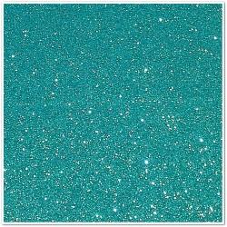 Gomma crepla glitterata adesiva - Turchese - 20x30 cm