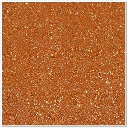 Gomma crepla glitterata adesiva - Arancione - 20x30 cm