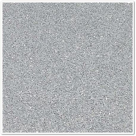 Gomma crepla glitterata adesiva - Argento - 20x30 cm