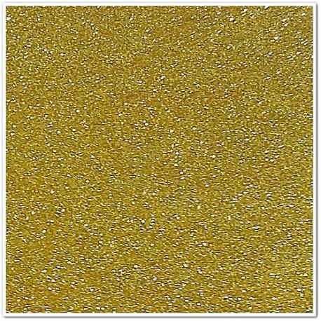 Gomma crepla glitterata adesiva - Oro scuro - 20x30 cm