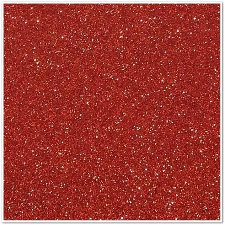 Gomma crepla glitterata adesiva - Rosso - 20x30 cm