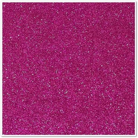 Gomma crepla glitterata adesiva - Fucsia - 20x30 cm