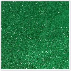 Gomma crepla glitterata adesiva - Verde scuro - 20x30 cm