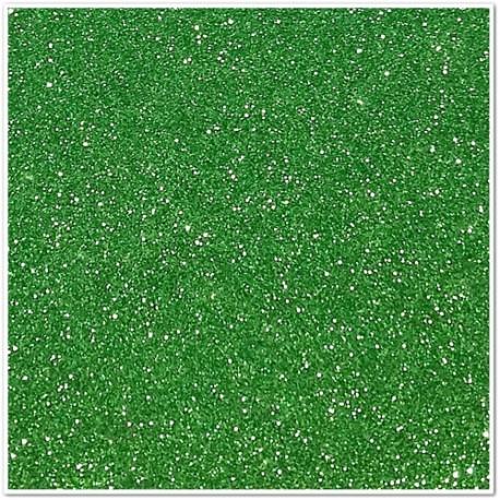 Gomma crepla glitterata adesiva - Verde - 20x30 cm