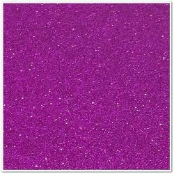 Gomma crepla glitterata adesiva - Viola - 20x30 cm