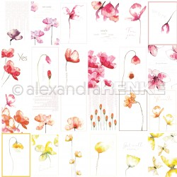 Alexandra Renke - Collezione Floral - Designpaper 'card sheet flowers international'