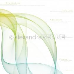 Alexandra Renke - Collezione Floral - Designpaper 'Color waves green blue international'