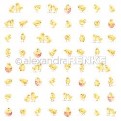 """Alexandra Renke - Collezione """"Alle_305_Papiere - Designpaper 'Many small chicks'"""