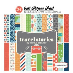 Carta Bella 6x6 aper Pad - Travel Stories