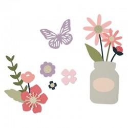 Fustella Sizzix Thinlits - Garden Florals