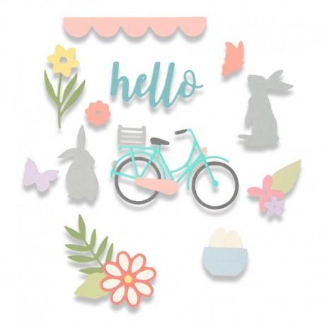 Fustella Sizzix - Spring Time