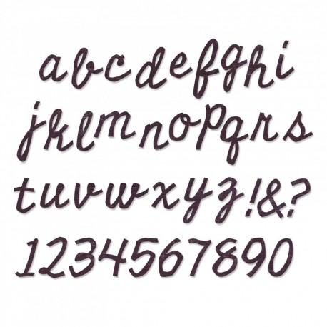 Fustella Sizzix Bigz XL Alphabet Die - Cutout Script
